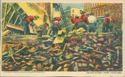 Searching for victims earthquake NY sunday american journal