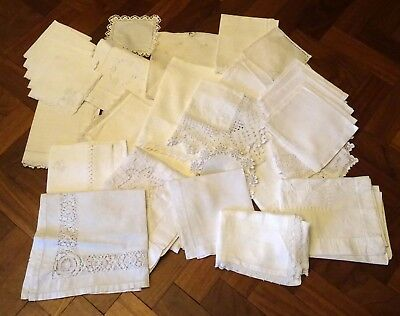 Vintage Collection Of White Linen And Lace