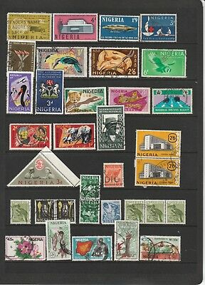 Nigeria - Colourful Stamp Selection with Shades  2 SCANS (1415)