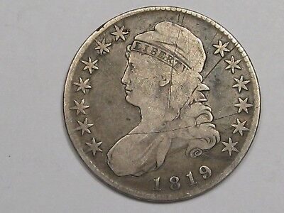 1819 US Bust Early Half Dollar (Scratched).  #25