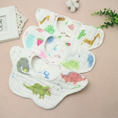 Infant Baby Boy Girl Bibs Flower Shape Saliva Towel Cotton Absorbent Pinny 1P