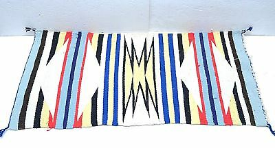 Vintage southwestern Rug Throw saddle Blanket American Textile weaving 36x17