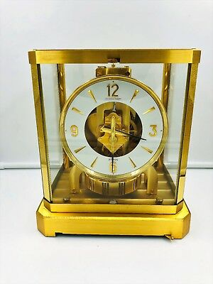 VINTAGE Jaeger-LeCoultre ATMOS MANTLE CLOCK. Hardly used. 1981