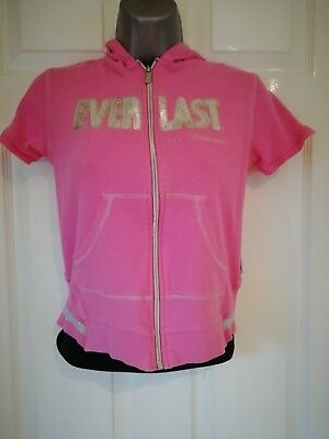 Girls Pink Ever Last Hoodie - Cotton - Age 11-12