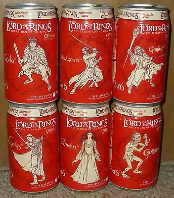 rare COCA-COLA Coke vanilla LORD OF THE RINGS can SET cans SOUTH AFRICA