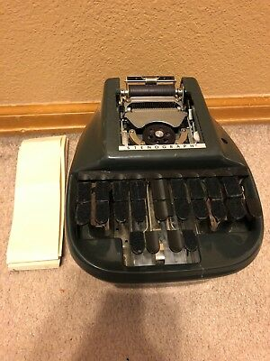 Vintage Steno-Lectric Stenograph Machine Stenographer Court Reporter - May Work?