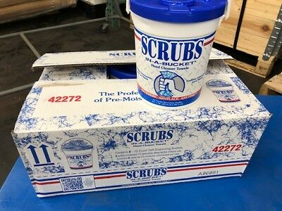 Scrubs in a Bucket Hand Cleaner Towels 42272 - 72 ct/bucket *Case of 6 buckets*