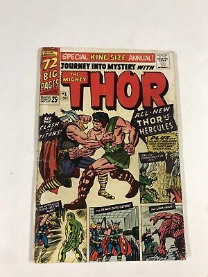 Journey Into Mystery Annual 1 2.0 Gd Good Marve Silver Age 1st Hercules