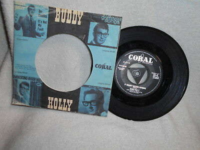 """7"""" Buddy Holly -- It Doesn´t Matter Anymore / Raining In My Heart"""