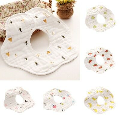 Infant Baby Boy Girl Bibs Flower Design Saliva Towel Comfort Breathable Pinny