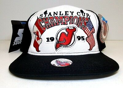 Vintage Starter NHL New Jersey Devils 1995 Stanley Cup Champs Snapback Hat  NWT c5ded674e