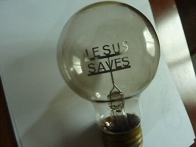"""Light Bulb """"Jesus Saves"""" From The 70's"""