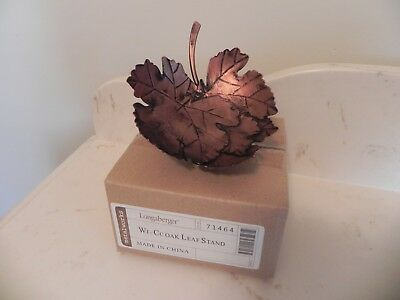 Longaberger ~ Collector's Club Wrought Iron Oak Leaf Stand  ~ NIB