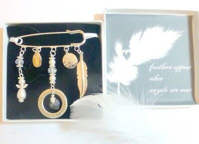 """""""When Feathers Appear Angels are Near"""" Guardian Angel Remembrance Memorial Gift"""