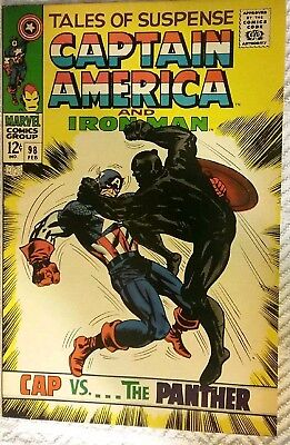 Marvel Tales of Suspense #98 Captain America & Iron Man Cap Vs The Panther VG+