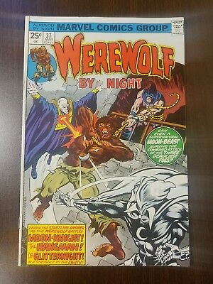WEREWOLF BY NIGHT #37 -Marvel Comics- Guest Starring Moon Knight!