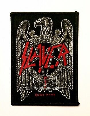 1x Slayer Rock Heavy Metal Band Woven Iron On Sew On Patch DIY