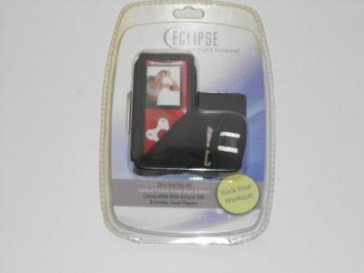 Eclipse MP3 / MP4 Armband w/ Earbud Pouch, Black, ECL-ARM-180 NEW Sealed
