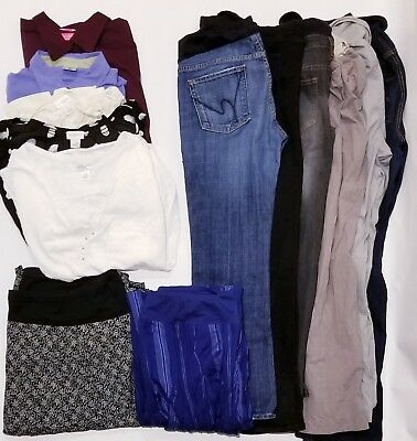 13 Piece Name Brand Lot Of Women's Maternity Clothes-Size Large/ Extra Large