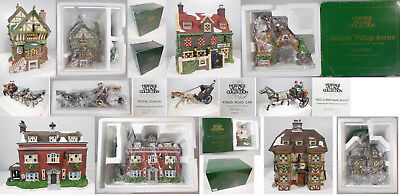 Dept 56 Dickens Village Signature Series Collection, 9 Bldgs & Accs In Boxes