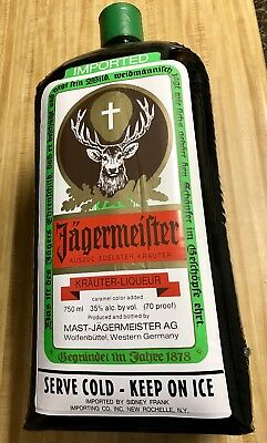 """Jagermeister Inflatable Bottle Advertising Tavern 24"""" Collectable"""