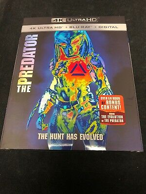 The Predator (4K Ultra HD + Blu-ray + Digital, 2018) NEW SEALED with Slipcover!!