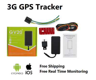 3G GPS Tracker Free Lifetime Tracking Anti-Theft Vehicle Car Yacht Caravan