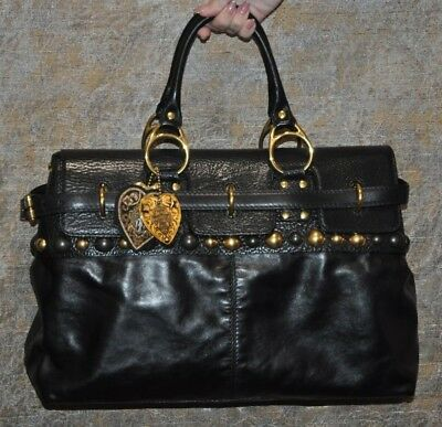 c0ecc58764f1 Authentic Rare Legendary Gucci Babouska Black Leather Bag -Pre-owned