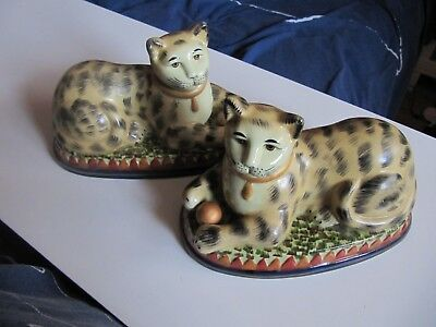 Vintage Matching Pair Of Cat Figurines
