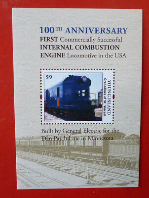 2013 St VINCENT LOCOS IN THE USA YOUNG ISLAND STAMP MINI SHEET