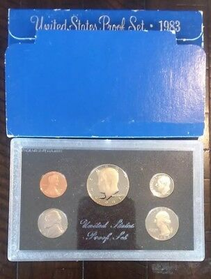 1983 United States Mint 5 Coin Proof Set In Original Government Packaging