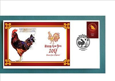 2017 Year Of The Rooster Souvenir Cover- Rhode Island Red