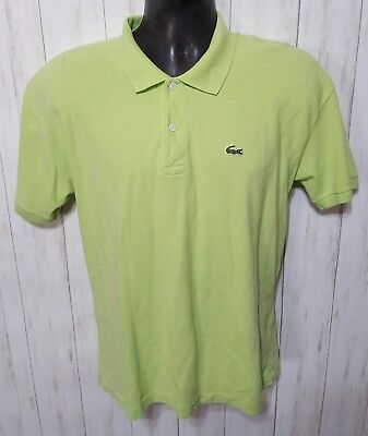 afaf7898d3b LACOSTE Men s Green Cotton Short Sleeve Alligator Logo Golf Polo Shirt Size  ...