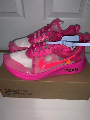b28755ccd6a3 NIKE ZOOM FLY Off-White Pink AJ4588-600 Sz. 9 -  300.00