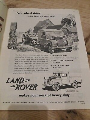 1955 Land Rover advert Vintage punch magazine July 27th Schweppes