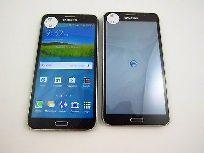 Lot of 2 Cracked Samsung Galaxy Mega 2 G750A AT&T Check IMEI CR 786