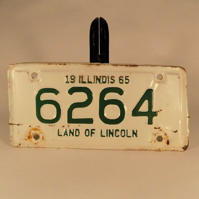 1965 Illinois Motorcycle License Plate