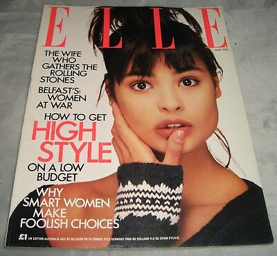 ELLE MAGAZINE May 1986 SOPHIE MARCEAU Jo and Ronnie Wood TALISA SOTO Vintage UK