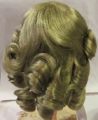 "G471 Vintage 13"" Synthetic Wig for Antique French or German Bisque Lady Doll"