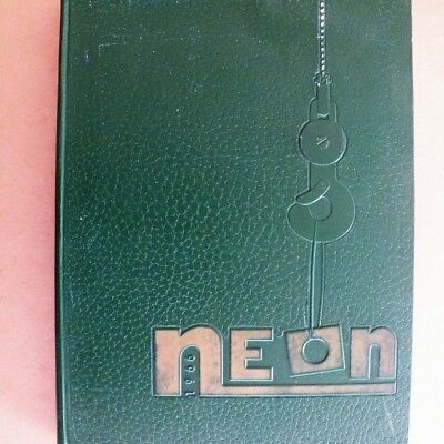Youngstown University 1966 Neon Yearbook Ysu Ohio Hard Cover 355 Pages