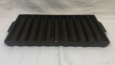 """14"""" Griswold Erie #22 Cast Iron Corn Bread Stick Muffin Pan – #954"""