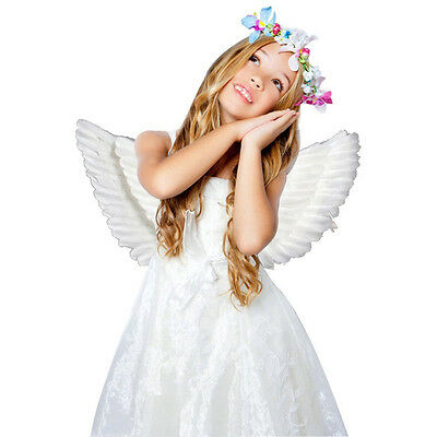 Lovely Feather Wings Angel Fairy Fancy Dress Costume Kids Party Cosplay Props QP
