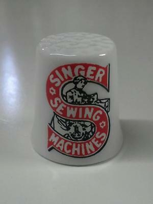 Singer Sewing Collectible Porcelain Thimble