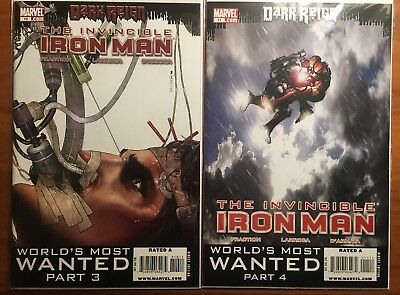 INVINCIBLE IRON MAN #10 & 11 (Marvel 2009) 1st App of RESCUE Armour Pepper Potts