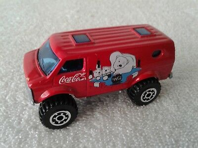 Matchbox Coca-Cola Chevy Van 4x4 Red with White Polar Bears 1981 Minty Loose