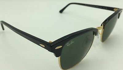 92a453b9e7 NEW RAYBAN CLUBMASTER Genuine RB3016 W0366 Tortoise Frame Green G-15 ...