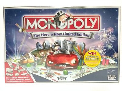 Monopoly The Here and Now Limited Edition by Hasbro 2005 Sealed and NEW