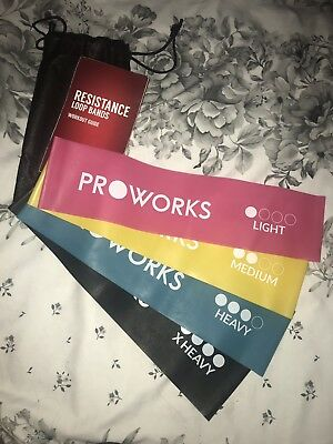 Proworks Resistance Bands | Set of 4 Heavy Duty Fitness Exercise