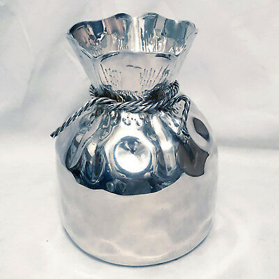 Asprey Of Bond St Silverplate Sack Vase By Almazan