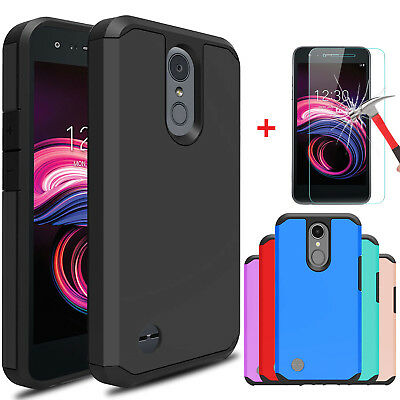 For LG Aristo 3/Tribute Empire Shockproof Case Cover With Glass Screen Protector